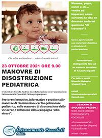 Locandina Manovre di distruzione pediatrica 23 ottobre 2021